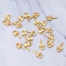 20 шт золотого банта в форме кольца винты штыря для глаз колпачки