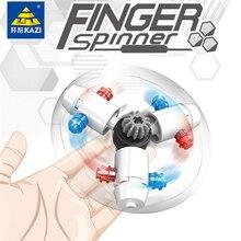 KAZI 6PCS Lot Block Finger Spinner Model Building Education Brick Block Toys Fidget Anti Stress Toy