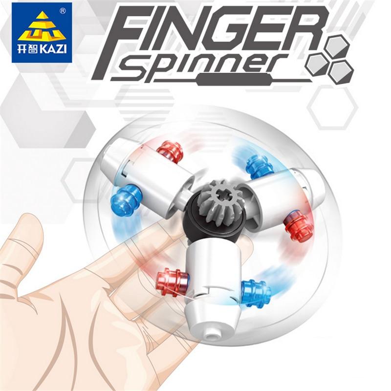 KAZI 6PCS Lot Block Finger Spinner Model Building Education Brick Block font b Toys b font