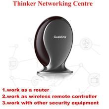 Geeklink Pensador, Switch, Router, IR + WIFI + RF, 315/433 Mhz, 315 zonas de Alarma Inalámbricos, Mando a distancia Inteligente Domótica por IOS/Android