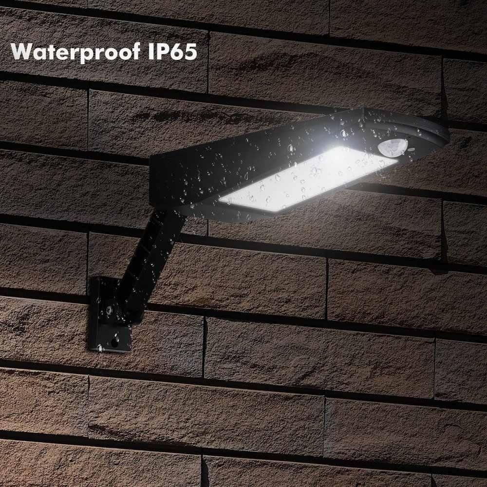 Обновленный 48 Светодиодный Солнечный свет 900LM PIR датчик движения Сад Открытый водонепроницаемый Солнечный свет настенный светильник с пультом дистанционного управления