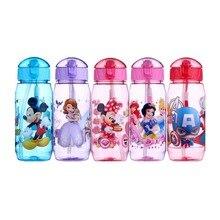 Экологичные детские бутылки для питьевой воды с героями мультфильмов, без бисфенола, тритановая соломенная детская бутылка, детский чайник, портативная Спортивная бутылка
