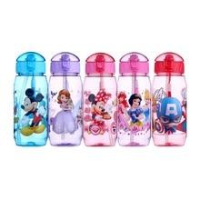Eco-friendly Kids Drinking Cartoon Water Bottles BPA Free Plastic Straw Children Bottle Children Kettle Portable Sports Bottle(China)