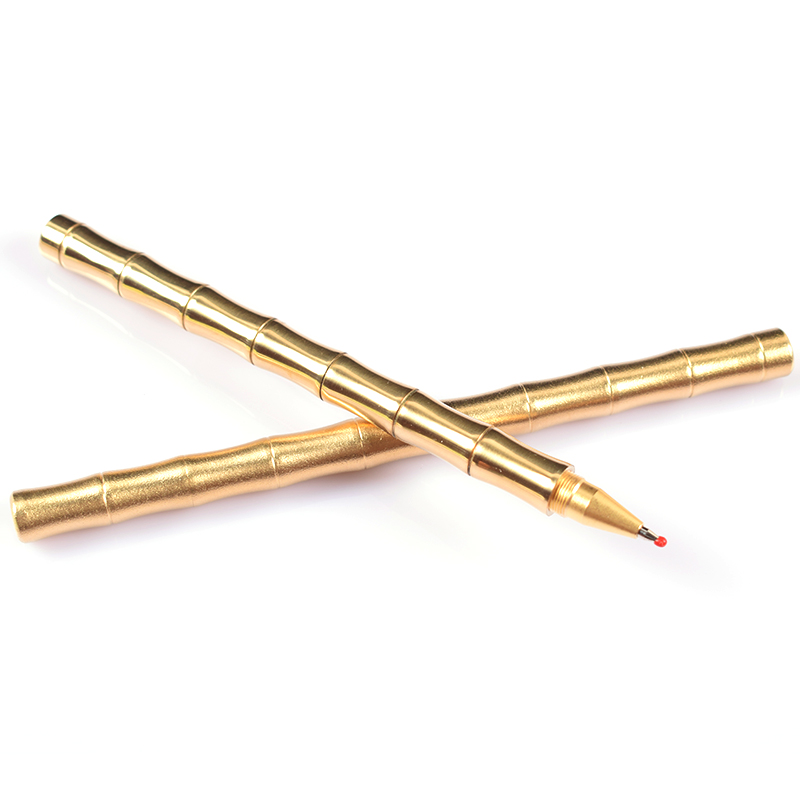 EDC Retro Brass Pen Handmade Metal Outdoor Tactical Copper Pen-Birthday