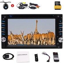 цены 6.2'' Double 2 Din In Dash Car CD DVD Player Autoradio GPS Stereo Radio BT USB RDS 1080P Color Buttons + Wireless Reverse Camera