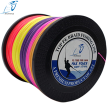 2018 AZJ Brand 1000m Braided Fishing Line 4 Strands Smooth Multifilament PE Braided Cord 8LB 100LB