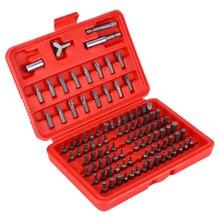 Conjunto de ferramentas hexagonais de segurança, 100 peças, broca hexagonal para segurança, estrela, chave de fenda, broca torx tripla, chave inglesa ponteira de chave de fenda