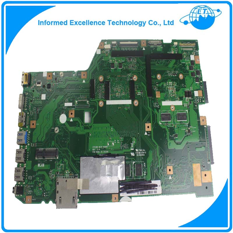 Laptop Motherboard For ASUS X751MD R752MD Mainboard REV.2.0 100% Tested