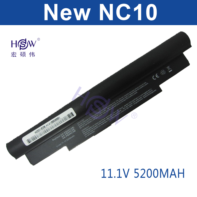 HSW 5200MAH laptop battery for Samsung NC10 NC20 ND10 N110 N120 N130 N135, AA-PB6NC6W,1588-3366,AA-PB8NC6B AA-PB8NC6M AA-PL8NC6W