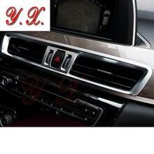 Для аксессуаров BMW 3D Chrome ABS консоль Кондиционер Vent Обложка отделкой Стикеры декоративные для BMW X1 F48 E84 автомобиля стайлинг LHD