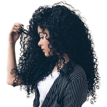 Lace Front Human Hair Wigs For Black Women 250% Density Brazilian Curly Wig With Baby Hair Remy Nature Color Sunny Queen