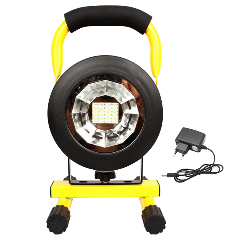 Portable Emergency Rechargeable LED Flood Light 30W 24LED Waterproof IP65 Camping Lamp Outdoor Spotlight Floodlight