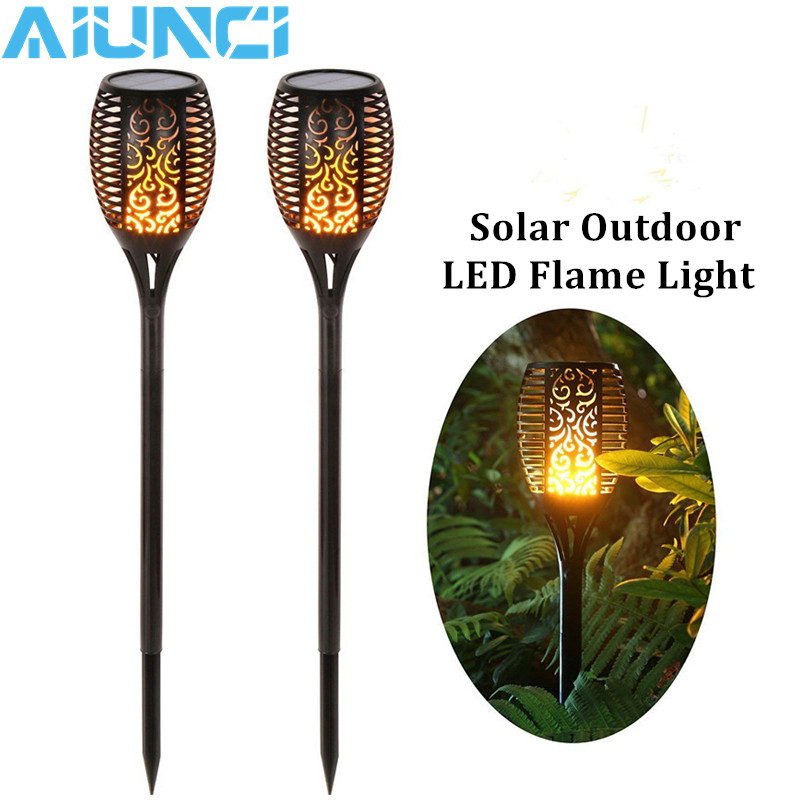 LED Solar Flame Flickering Lawn Lamps Led Torch Light Realistic Dancing Flame Light Waterproof Outdoor Garden Decor Flame Lamp upvel ua 222nu