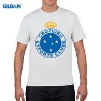 Gildan Cruzeiro Esporte Shirt Footballer Camiseta Futbol Soccering Belo Horizonte T Shirt Print Tee Shirts Top
