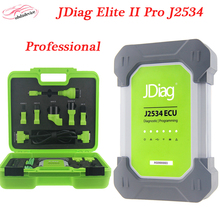 New Arrival JDiag Elite II Pro J2534 Diagnostic and ECU Programmer Tool+gift JDiag JD201 Code read High Quality With Laptop DHL