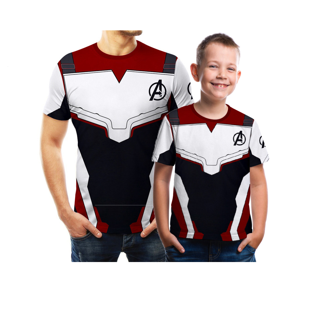 Household Shirt Matching Outfits Marvel 3D Avengers Endgame Tshirt Child Boy Garments and Couple Clothes Cool Household Look 5XL Matching Household Outfits, Low-cost Matching Household Outfits, Household Shirt Matching...