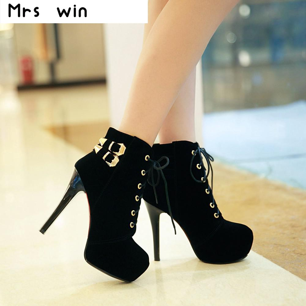 2017 new women boots sexy high heels platform ankle boots for women botas femininas thin heel lace up night high heel boots fashion army green camouflage canvas shoes woman rivets thin high heels boots botas sweet lace up ankle boots women femininas