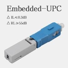 100 pces sc UPC 1803 ftth fibra óptica fibe conector rápido sc upc ftth conector rápido conector de montagem de fibra sc