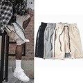 Temor de dios shorts mens casual baggy hip hop harem pantalones cortos sólido hombres kanye west justin bieber bolsillo con cremallera pantalones cortos basculador hommes