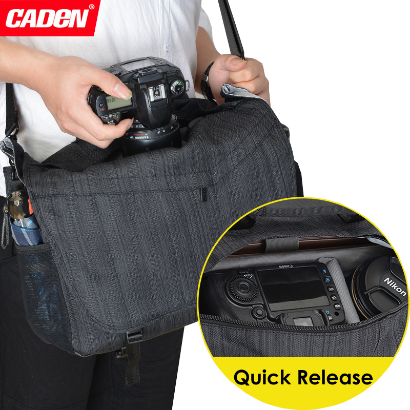 Caden Waterproof Travel Shoulder DSLR Camera Bag w Rain Cover for DIJ Mavi Pro Air Drone