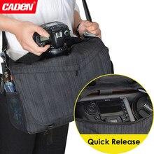 Caden su geçirmez seyahat omuz DSLR kamera çantası w/yağmur kılıfı için DIJ Mavi Pro/hava Drone Sony Nikon Canon dijital tripod K11