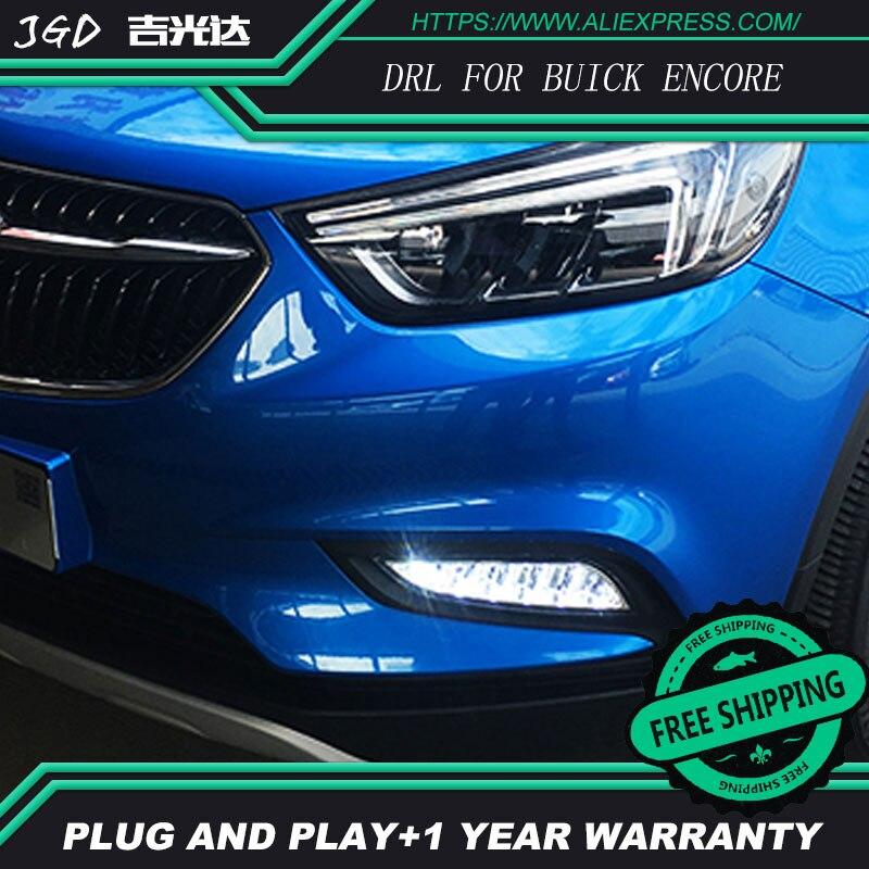 Бесплатная доставка ! 12В 6000K СИД DRL дневного света для Buick Encore с 2017 противотуманная фара стайлинга автомобилей