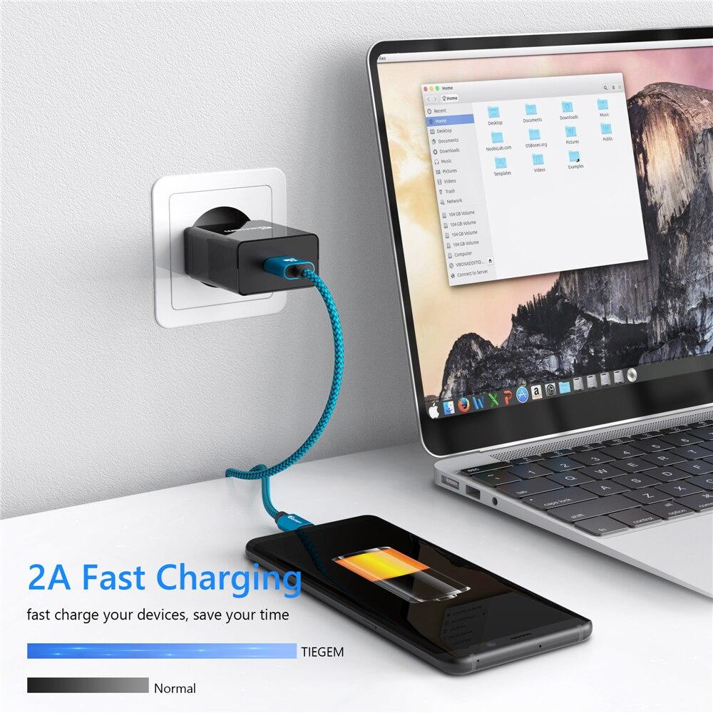 Samsung Sony HTC LG Cable üçün Micro USB Cable 2A 1m sürətli - Cib telefonu aksesuarları və hissələri - Fotoqrafiya 3