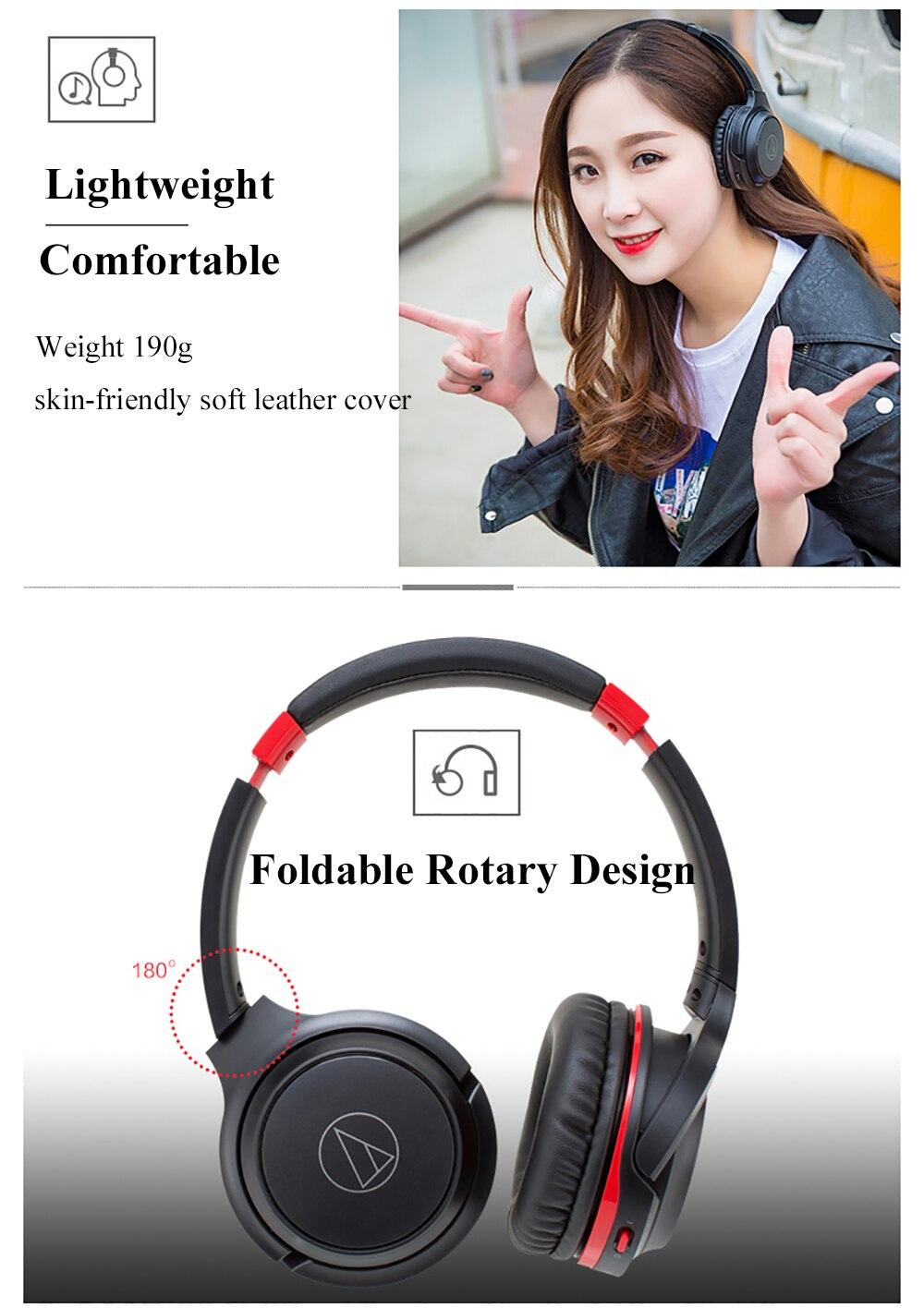 Original de áudio technica ATH-S200BT bluetooth fone