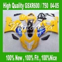 Kits del carenado para SUZUKI GSXR 600 K4 GSX-R750 GSX-R600 azul amarillo 04 05 GSXR600 04 05 carenados GSXR 750 K4 2004 2005 #339 V partes