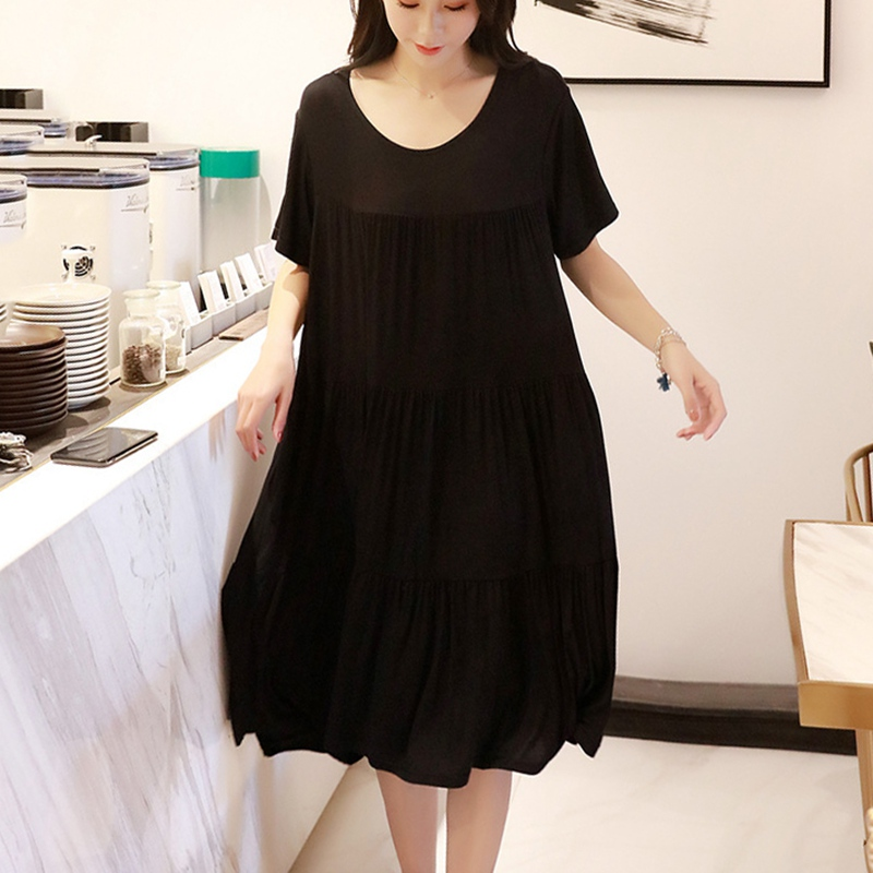 Элегантный Для женщин беременных платье для сна Женская одежда для кормления грудью, одежда для сна, матерей Повседневная для кормления спальный халат ночные рубашки для девочек - Цвет: Black  Large Size