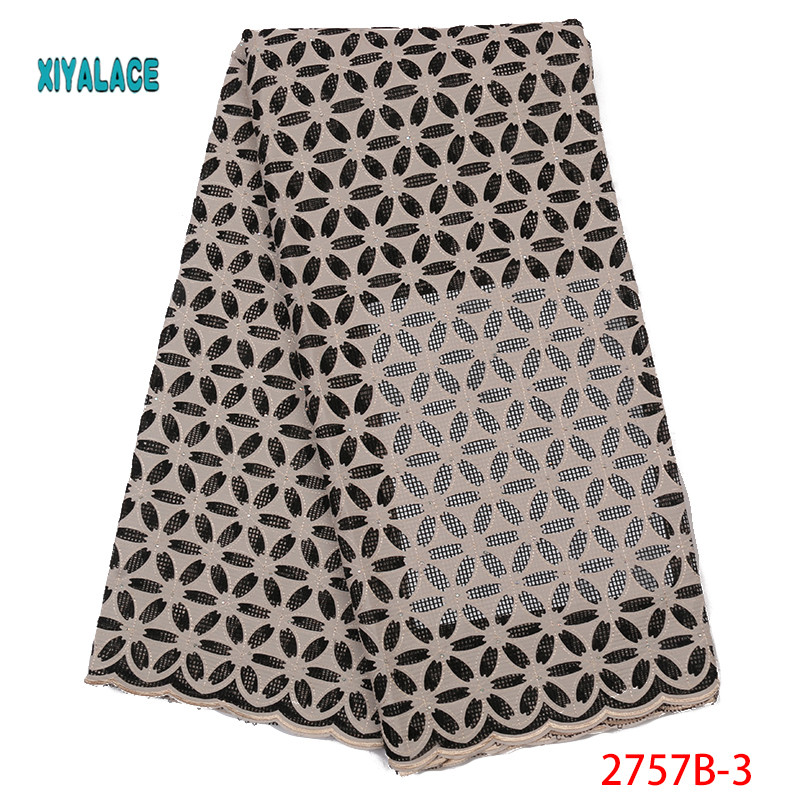 New Design Hot Sale Nigerian Lace Fabric,Fashion African Kano Cotton Swiss Voile Lace In Switzerland High Quality Lace YA2757B-3