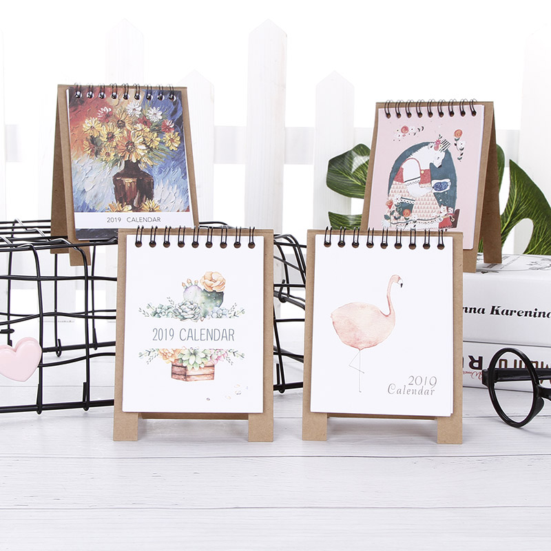 2019 Cute Cartoon Desktop Paper Creative Desk Vertical Paper Multi-function Storage Box Timetable Plan Notebook F21 19 Dropship Office & School Supplies