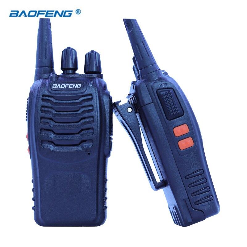 2 pcs Baofeng Talkie Walkie BF 888 s Portable Émetteur-Récepteur Radio UHF 400-470 mhz CB Radios JAMBON 16 canal FM Stéréo Chasse Station