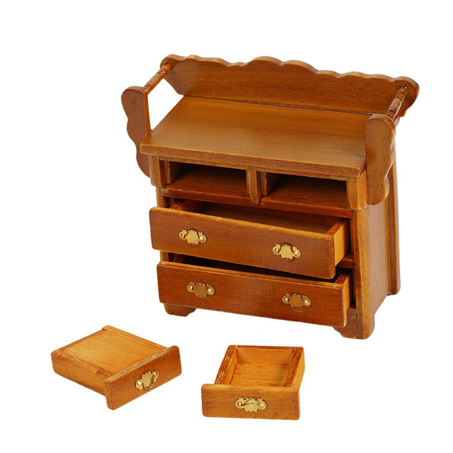 1:12 Wood Mini Drawer Cabinet For Doll House