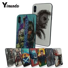 Yinuoda Thor TPU Black soft shell Phone Case For Apple iphone 7 7plus X 8 8plus 6s 6 6plus 5 5s 5c