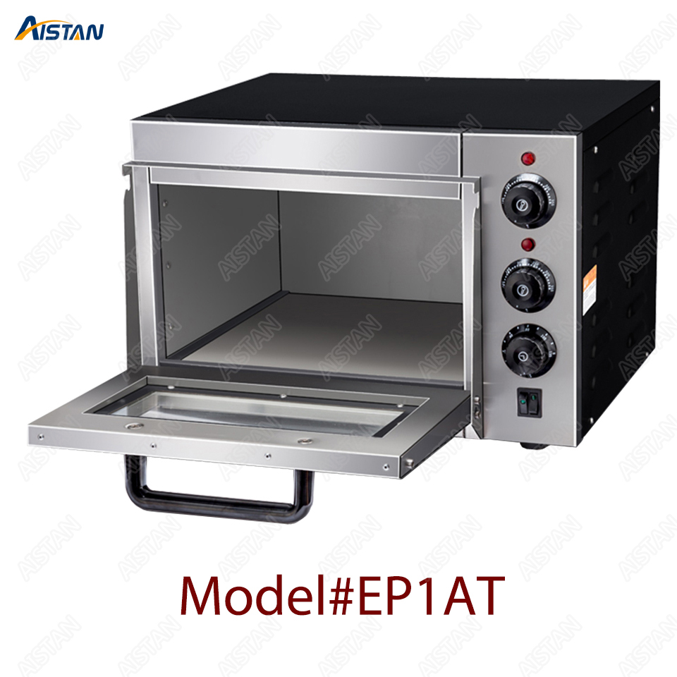 EP1AT electric stainless steel single layer higher chamber pizza oven with timer for baking bread, cake, pizza 1
