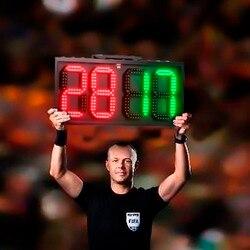 60 سنتيمتر LED دليل اللوحة المحمولة كرة القدم الإلكترونية لكرة القدم تغيير لاعب عرض مجلس 1 الجانب الحكم استبدال لوحات