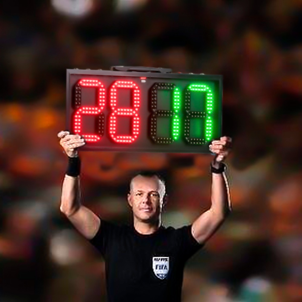 60cm LED Manual Scoreboard Portable Football Electronic Soccer change player display board 1 side Referee substitution boards