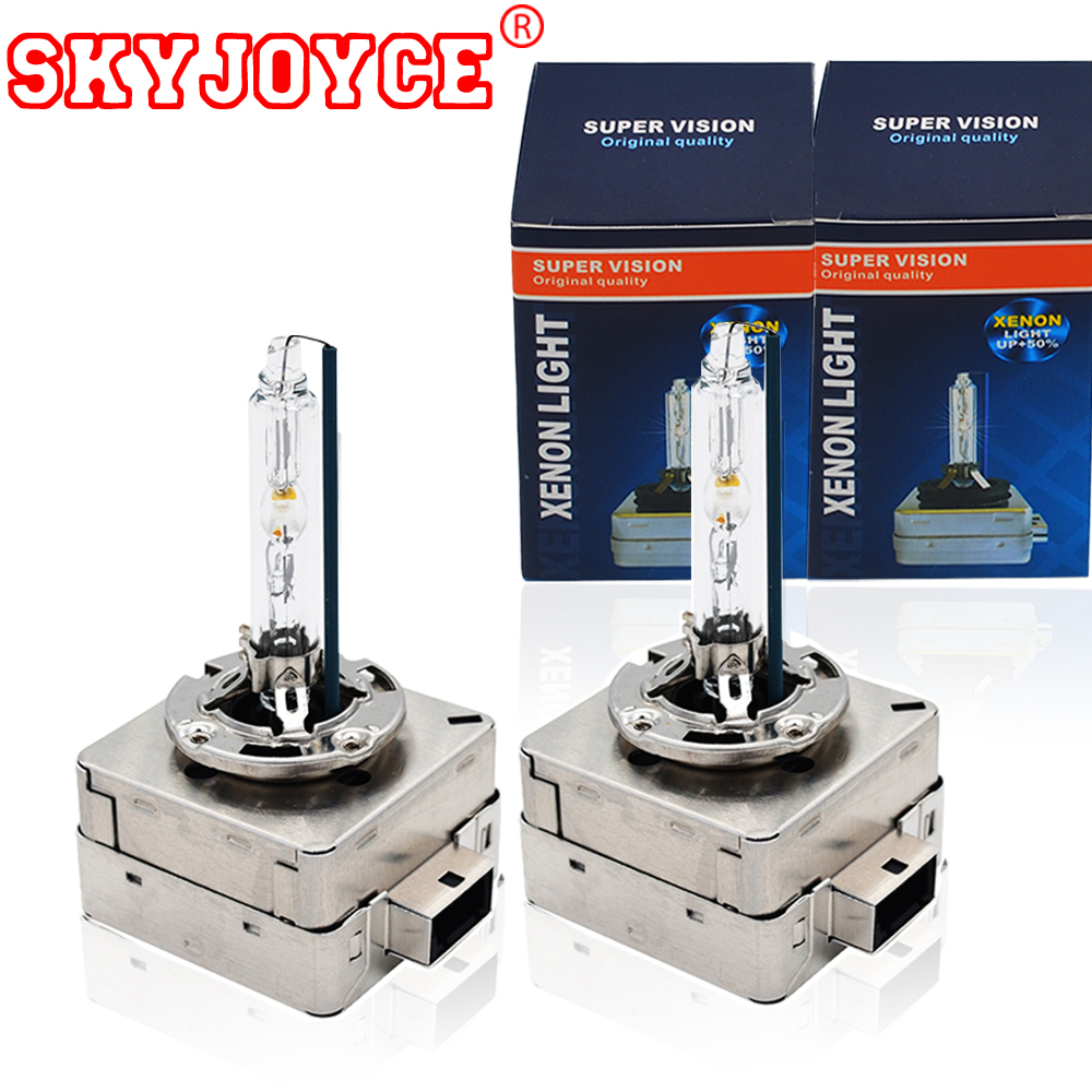 SKYJOYCE Original 55W 35W 4300K D1S Xenon D3S 6000K 5000K D1S Xenon Lamp All Metal Base Claw 8000K D1S D3S HID Headlight Bulbs 2pcs 12v 35w xenon d1s d1c xenon hid bulbs headlights replacement lamp auto car light 4300k 5000k 6000k 8000k
