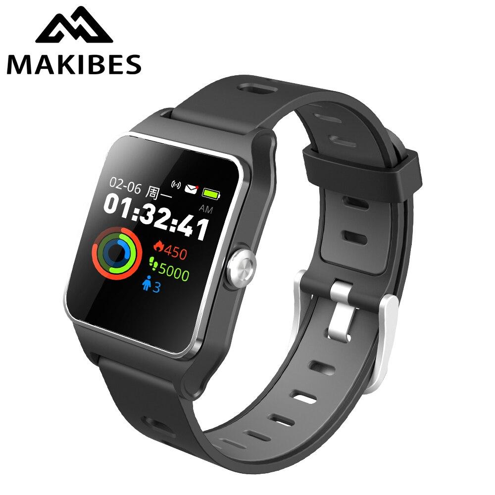 RU/DE/ES en stock 1 an DE garantie Makibes BR3 GPS montres intelligentes Strava étanche Fitness tracker Message rappel d'appel cadeau