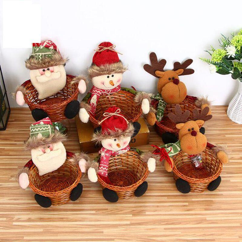Best Дело новый дом Рождественский Снеговик конфеты корзина для хранения украшения Санта Клаус корзина для хранения подарок милые мармелад к...