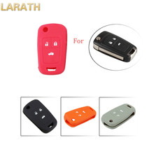 LARATH Silicone Remote Car Key Cover Case For Chevrolet Cruze 2013 Spark Onix Silverado Volt Camaro Aveo Sonic Car Accessories