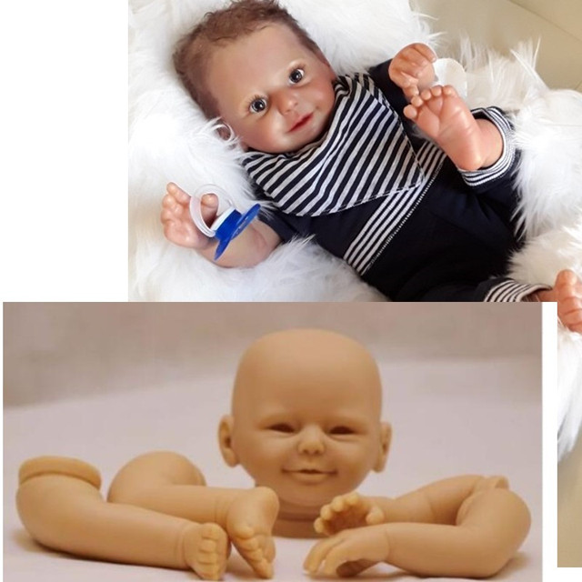 Reborn Doll Kits for 20inches DK-77 Soft Vinyl Reborn Baby Dolls Accessories for DIY Realistic Toys for DIY Reborn Dolls Kits