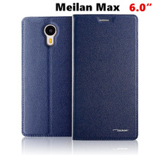 Tscase Business Genuine Leather Flip Cover For Meizu M3 Max Meilan Max 6.0″ Mobile phone cases smart Cover Business Men +Gift