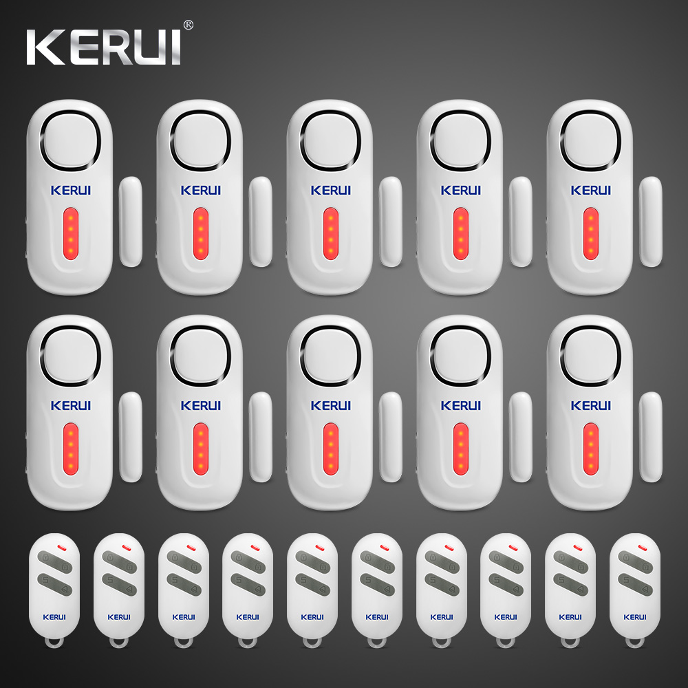 KERUI D2 Door Window Sensor Alarm PIR Magnetic Wireless Alarm System Security With Remote Control Alarm System