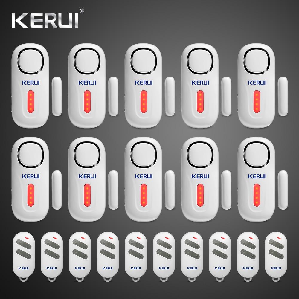 KERUI D2 Door Window Sensor Alarm PIR Magnetic Wireless Alarm System Security With Remote Control Alarm System