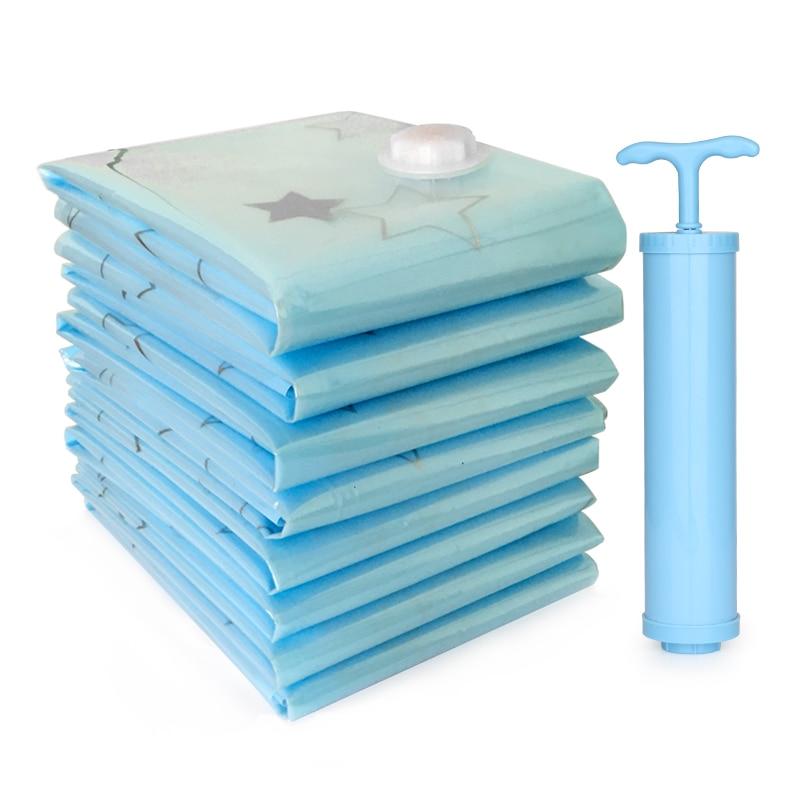 Дома органайзера вакуум для хранения одежды сумки большие хлопка одеяло водонепроницаемый вакуумный мешок Органайзер