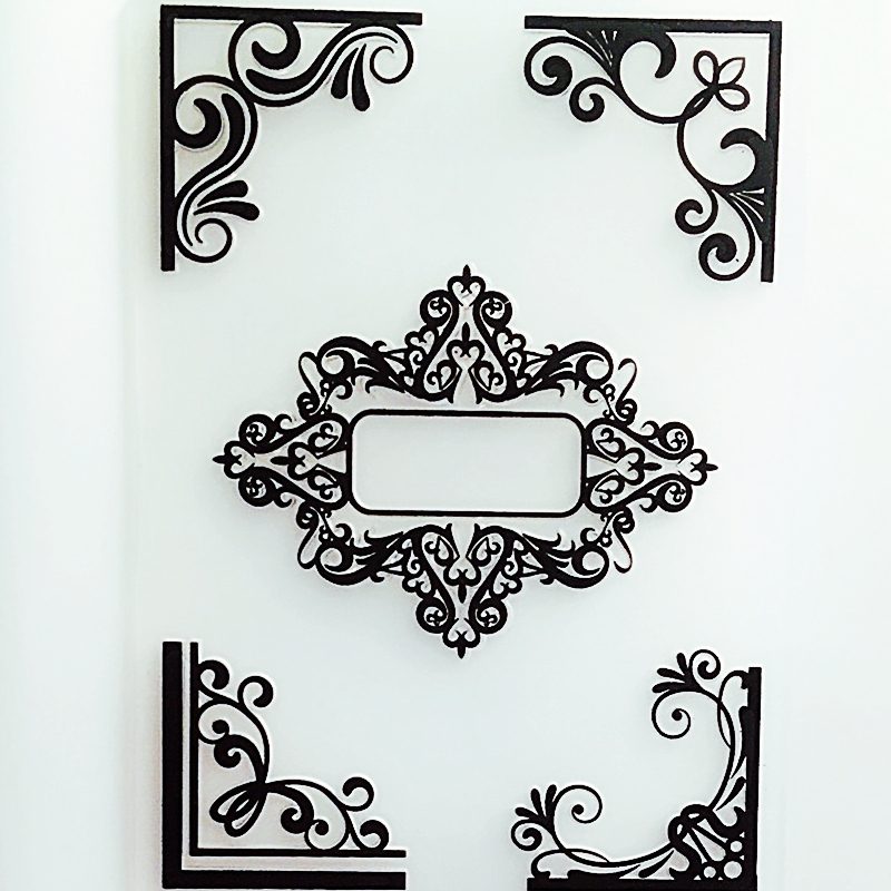 Ylef090 Flower Lace Plastic Embossing Folder For Scrapbook Stencils