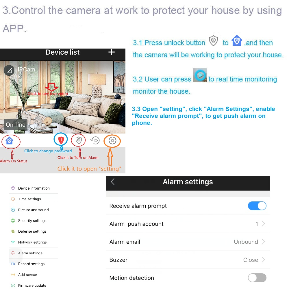 US $60 79 5% OFF 1080P camera alarm set security home wireless IP WiFi HD  camera intrusion alarm anti theft suite door sensor PIR detector CCTV a-in