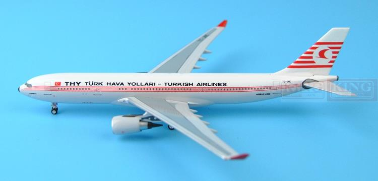New: Aeroclassics Turkey aviation TC-JNC A330-200 retro painting 1:400 commercial jetliners plane model hobby a13036 apollo indonesia aviation pk gsh 1 400 commercial jetliners plane model hobby b747 400
